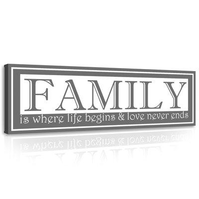 Motto - Family Canvas Schilderij PP10013O3