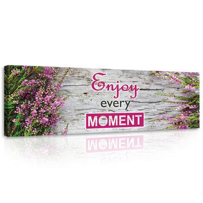 Motto Enjoy Every Moment Canvas Schilderij PP10012O3