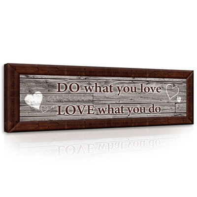 Motto - Do what You Love Canvas Schilderij PP10011O3