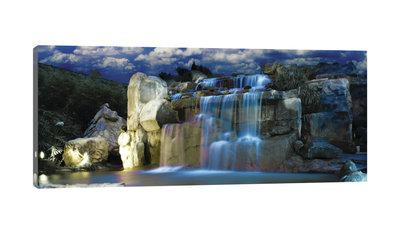 Blue Waterfall Canvas Schilderij PP20014O3