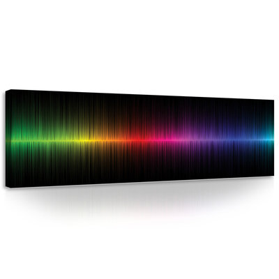 Rainbow Graph Canvas Schilderij PP10441O3
