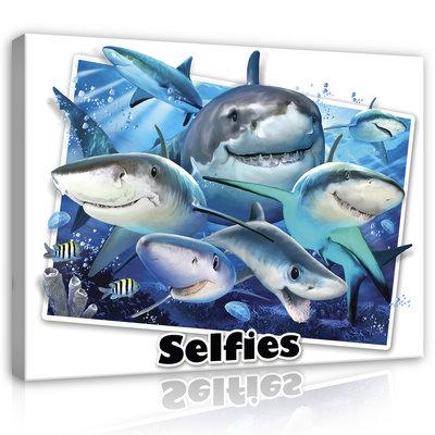 Dieren Selfies Canvas Schilderij PP12814O1
