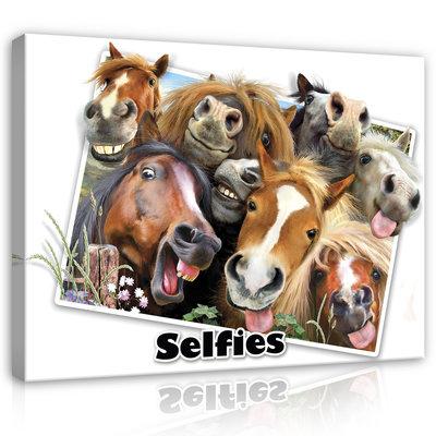 Dieren Selfies Canvas Schilderij PP12809O1