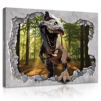 Hole -Dinosaur Canvas Schilderij PP11034O1