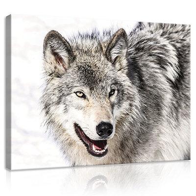 Snow Wolf Canvas Schilderij PP20307O1