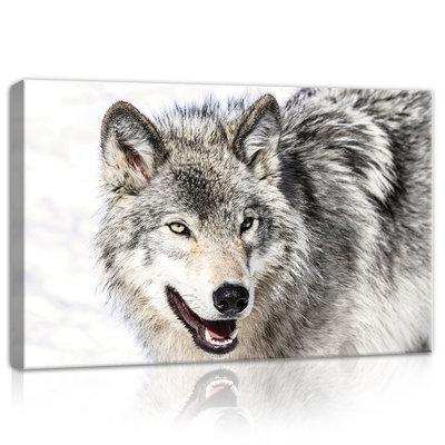 Snow Wolf Canvas Schilderij PP20307O4