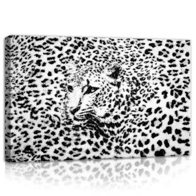 Black and White Cheetah Canvas Schilderij PP20306O4