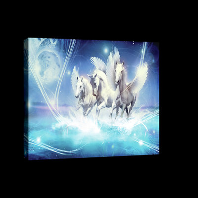 Pegasus on Blue Background Canvas Schilderij PP20289O4