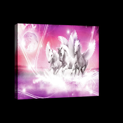 Pegasus on Pink Background Canvas Schilderij PP20280O4
