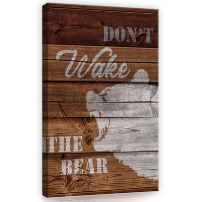 Don't wake the bear Canvas Schilderij PP12086O4