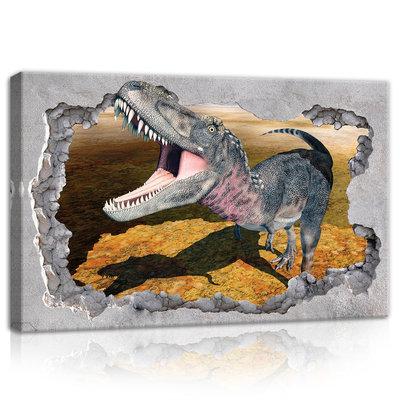 Hole - Dinosaur Canvas Schilderij PP11037O4