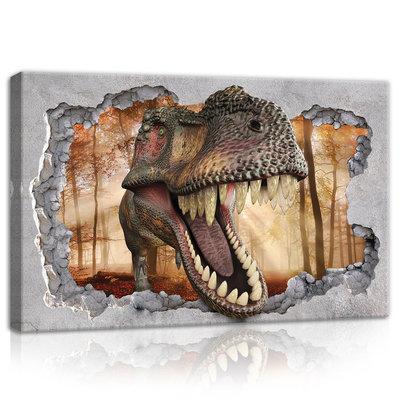 Hole - Dinosaur Canvas Schilderij PP11036O4