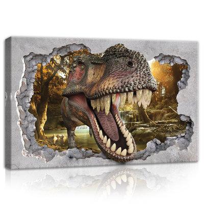 Hole - Dinosaur Canvas Schilderij PP11035O4