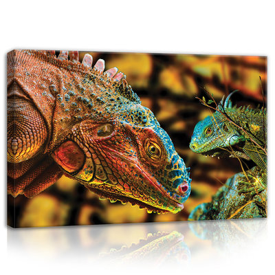 Colourful Komodo Dragon  Canvas Schilderij PP10568O4