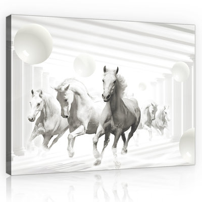 Abstract horses Canvas Schilderij PP10154O4