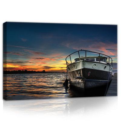 Boat on the Sea Canvas Schilderij PP10520O4