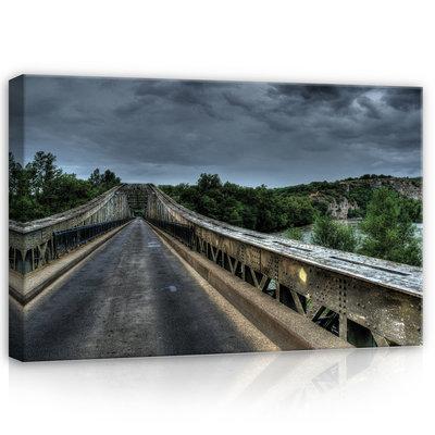 Old Metal Bridge Canvas Schilderij PP10519O4