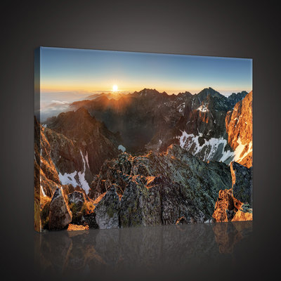 Rysy in High Tatras, Slovakia  Canvas Schilderij PP10509O4