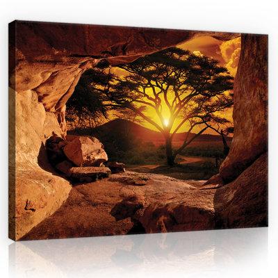 Canyon - Sunset Canvas Schilderij PP10260O4