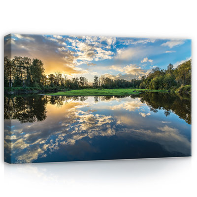 Lake Canvas Schilderij PP12011O4