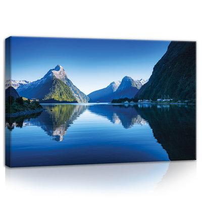 Mountains in New Zealand Canvas Schilderij PP11794O4