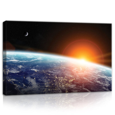 View of earth from outer space Canvas Schilderij PP11793O4