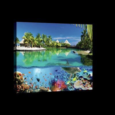 Coral Reef and Maldives Canvas Schilderij PP20056O4