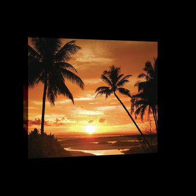 Sunset in Tropics Canvas Schilderij PP20039O4