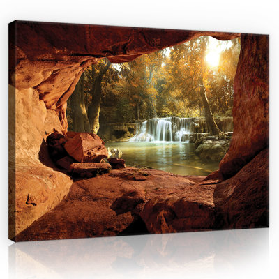 Canyon - Forest Canvas Schilderij PP10261O4