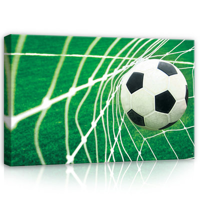 Ball in Goal Canvas Schilderij PP20125O4
