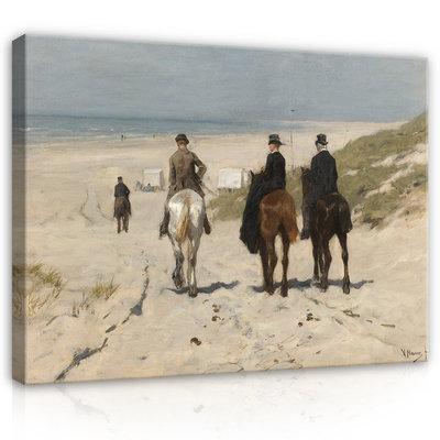 Rijksmuseum Canvas Morgenrit langs het strand Anton Mauve RMC15