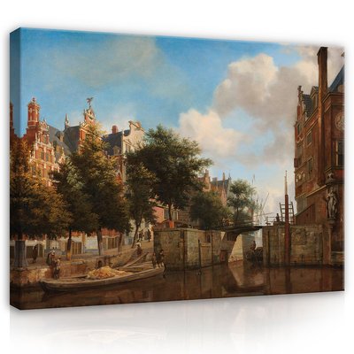 Rijksmuseum Canvas Amsterdam Stadsgezicht Haarlemmersluis RMC27