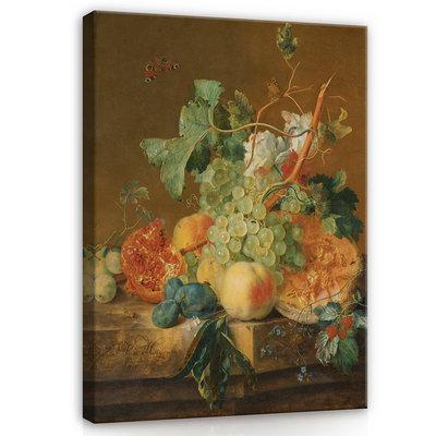 Rijksmuseum Canvas Stilleven met vruchten Jan van Huysum RMC36
