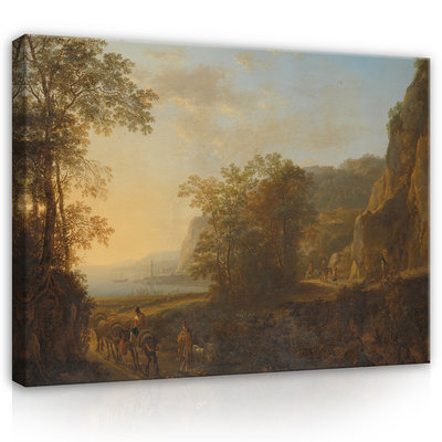 Rijksmuseum Canvas Italiaans Landschap met haven Jan Both RMC48