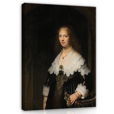 Rijksmuseum Canvas Portret van Maria Trip RMC55