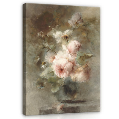 Rijksmuseum Canvas Een vaas met Rozen Margaretha Roosenboom RMC56