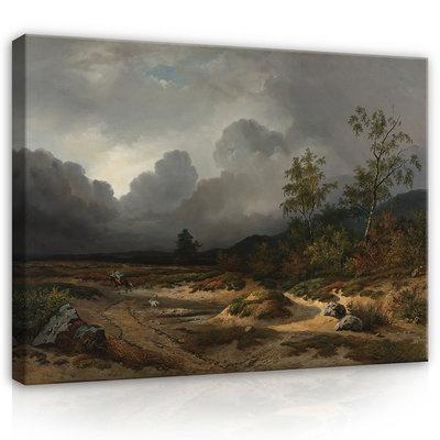 Rijksmuseum Canvas Landschap bij naderend onweer Willem Roelofs RMC58