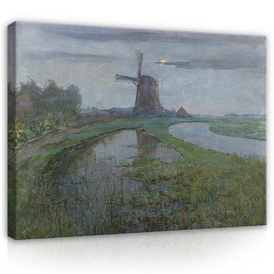 Rijksmuseum Canvas Molen bij Maanlicht Piet Mondriaan RMC59
