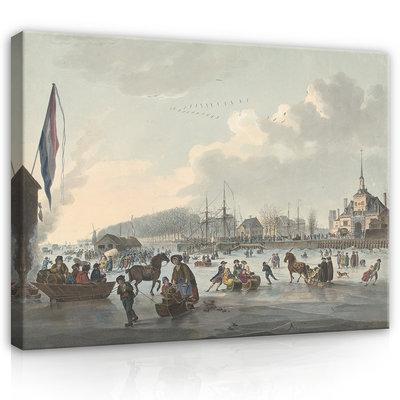 Rijksmuseum Canvas Ijsvermaak voor Rotterdam 1784 RMC62