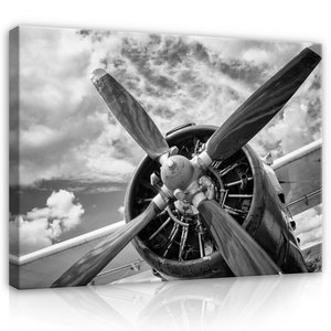 Plane propeller Canvas Schilderij PP12714O1