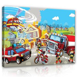 Fire Brigade Canvas Schilderij PP12548O1