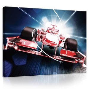 Red Formula 1 3D F1 Canvas Schilderij PP20241O1