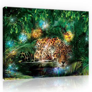 Jaguar in the Jungle Canvas Schilderij PP10212O1