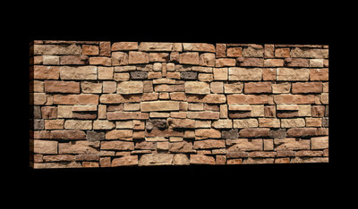 Brown Brickwall Canvas Schilderij PP20131O3