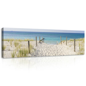 Beach and the Seaview  Canvas Schilderij PP10387O3