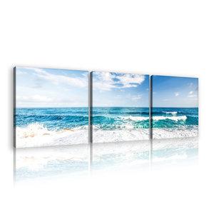 Beach and Peaceful Ocean Canvas Schilderij PS10218S13