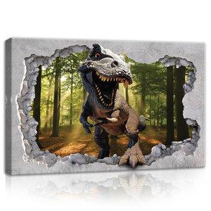 Hole -Dinosaur Canvas Schilderij PP11034O4