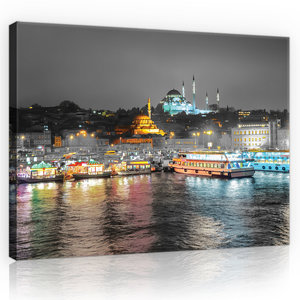 City Panorama from the River View Canvas Schilderij PP10152O4