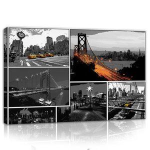 Comics Cities Canvas Schilderij PP10675O4