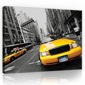Yellow Taxi Canvas Schilderij PP10069O4